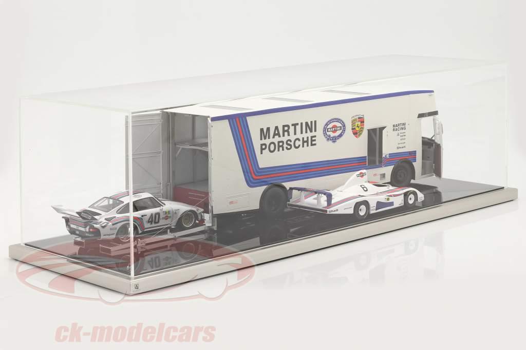 Haute qualité Atlantic acrylique Vitrine 90 x 30 x 25 cm für Transporteur de course 1:18