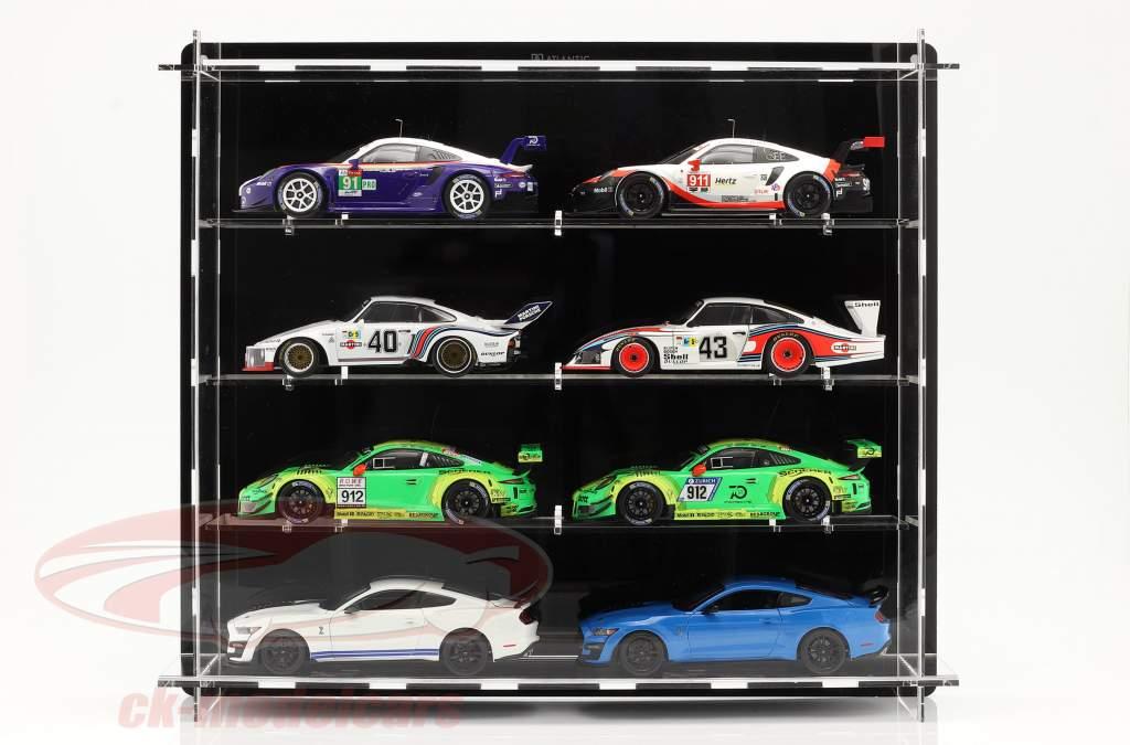 Hochwertige Acryl Vitrine Multicase Per 8 modellini di automobili nel scala 1:18 Atlantic