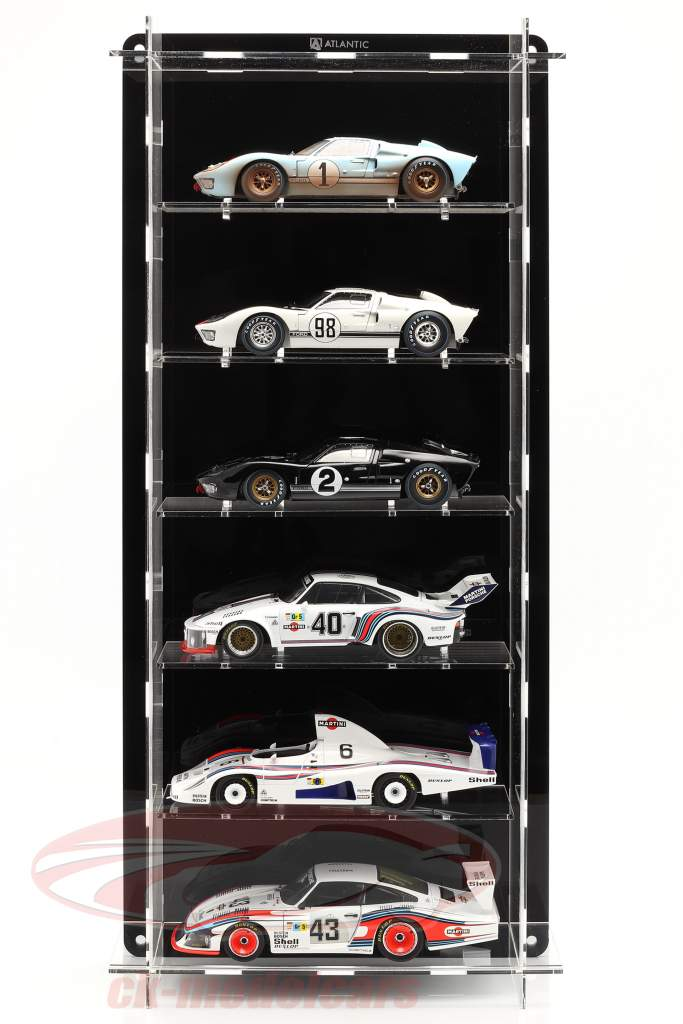 High quality acrylic Showcase Multicase For 6 modelcarss in scale 1:18 Atlantic