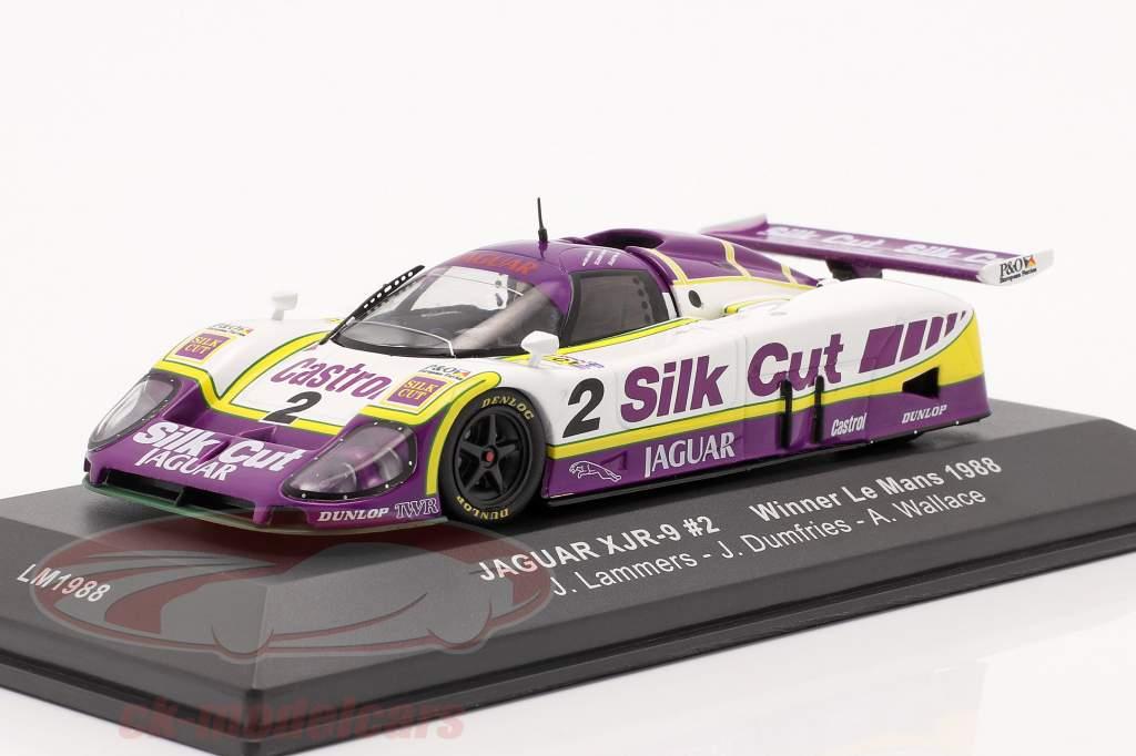 Jaguar XJR-9 #2 gagnant 24h LeMans 1988 Lammers, Dumfries, Wallace 1:43 Ixo