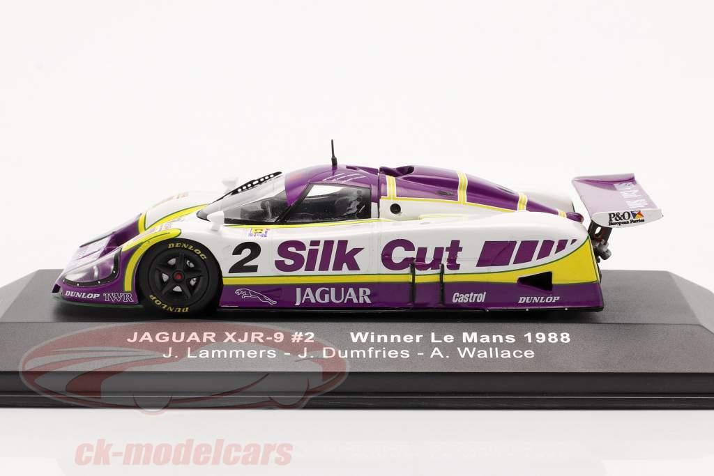 Jaguar XJR-9 #2 vinder 24h LeMans 1988 Lammers, Dumfries, Wallace 1:43 Ixo