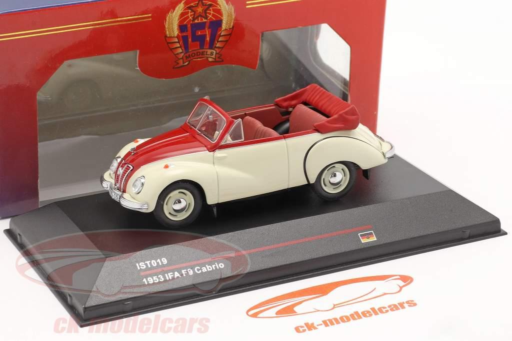 IFA F9 Cabrio Année de construction 1953 blanc / rouge 1:43 IST-Models / 2. choix