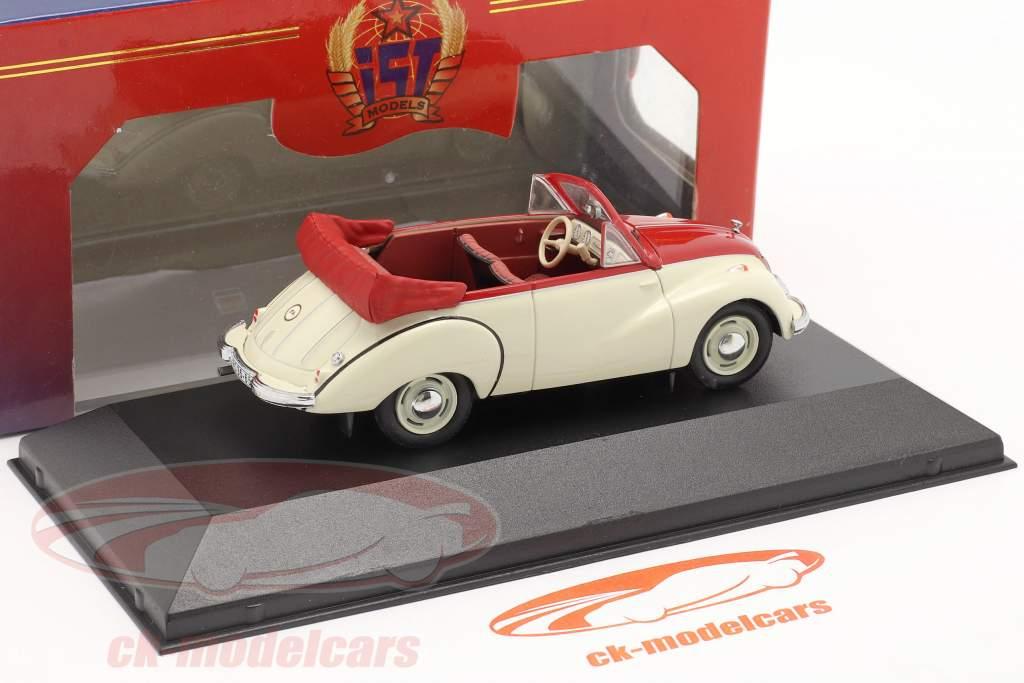 IFA F9 Cabrio Anno di costruzione 1953 bianca / rosso 1:43 IST-Models / 2. scelta
