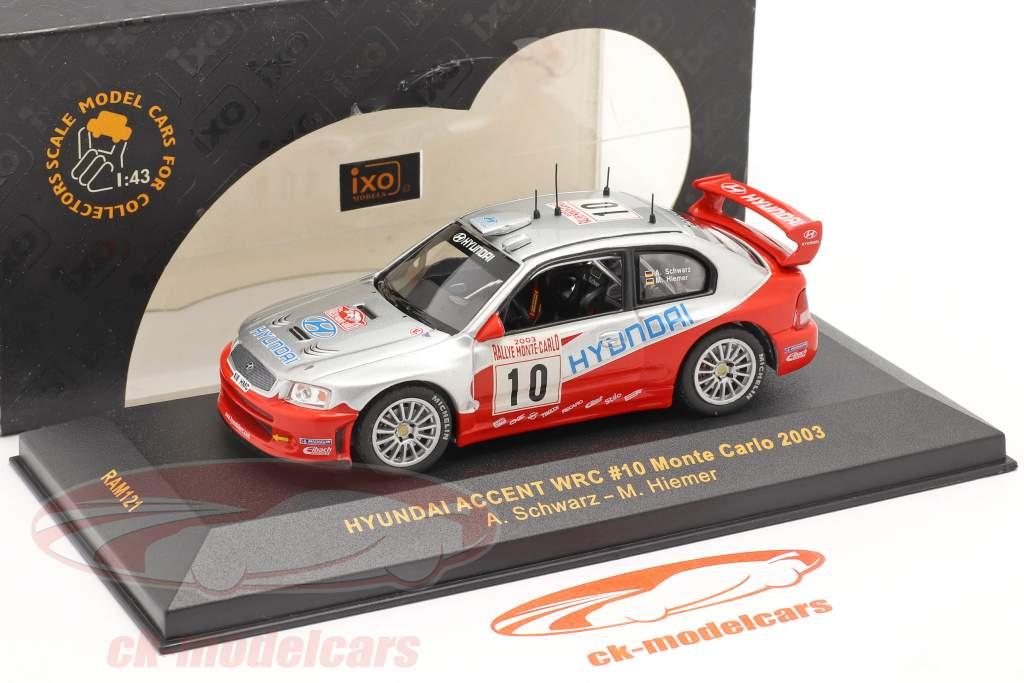 Hyundai Accent WRC #10 rally Monte Carlo 2003 Schwarz, Hiemer 1:43 Ixo / 2. scelta