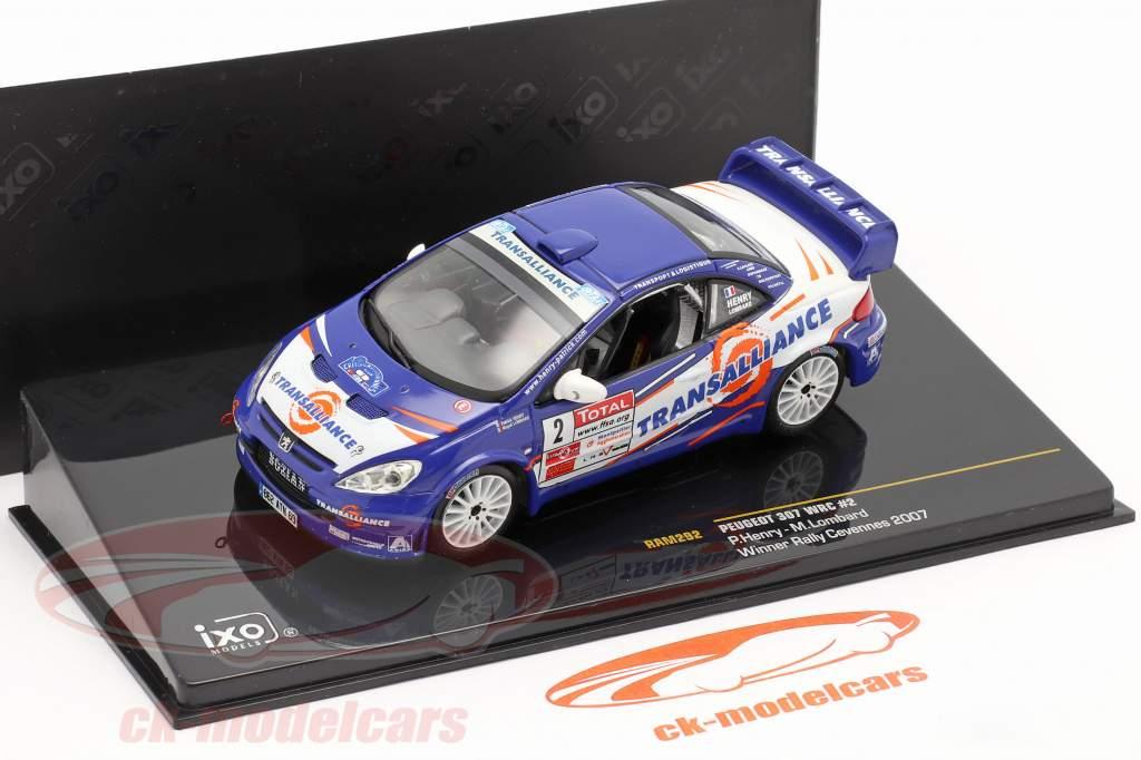 Peugeot 307 WRC #2 gagnant se rallier Cevennes 2007 Henry, Lombard 1:43 Ixo / 2. choix