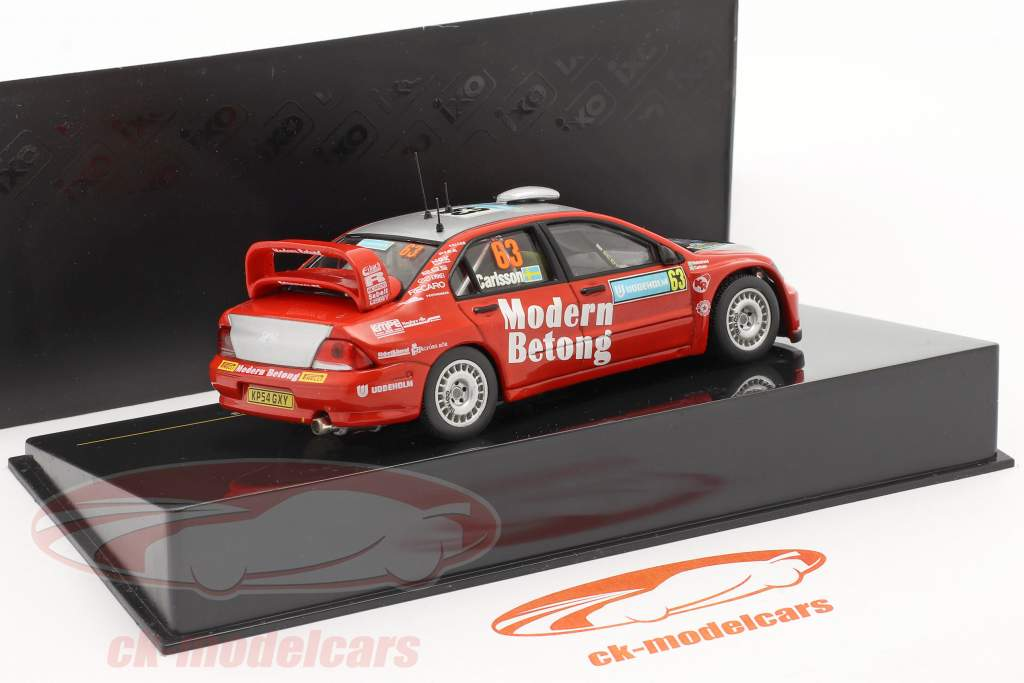 Mitsubishi Lancer WRC #63 rally Svezia 2006 Carlsson, Holmstrand 1:43 Ixo / 2. scelta