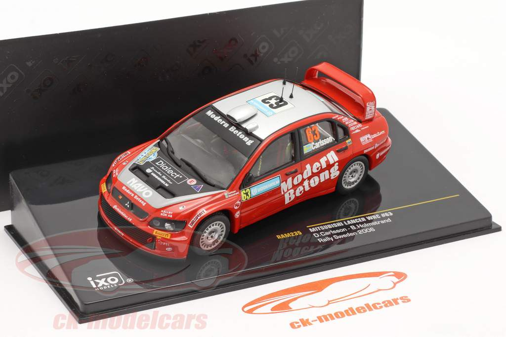 Mitsubishi Lancer WRC #63 rally Svezia 2006 Carlsson, Holmstrand 1:43 Ixo