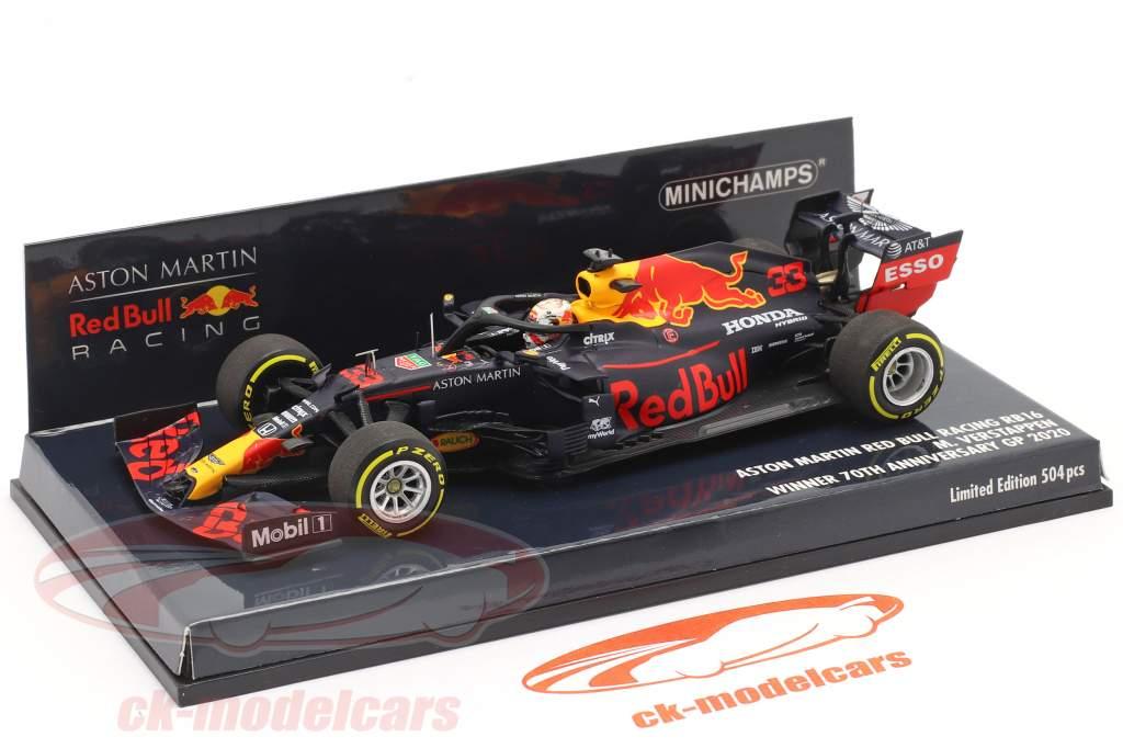 M. Verstappen rouge Bull Racing RB16 #33 Gagnant 70e Anniversaire GP F1 2020 1:43 Minichamps