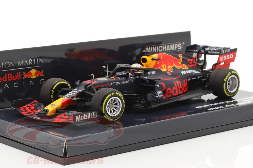 M. Verstappen Rød Bull Racing RB16 #33 Vinder 70. Jubilæum GP F1 2020 1:43 Minichamps