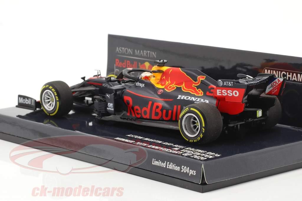 M. Verstappen Rosso Bull Racing RB16 #33 Vincitore 70 ° Anniversario GP F1 2020 1:43 Minichamps
