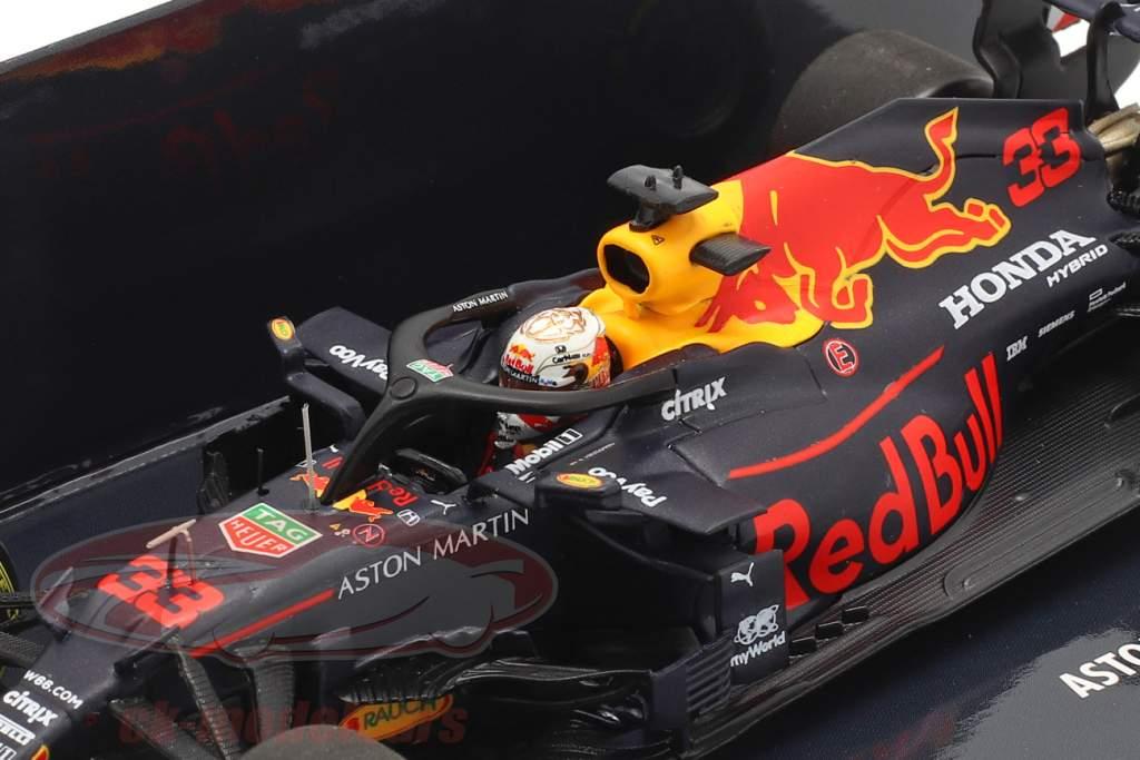M. Verstappen vermelho Bull Racing RB16 #33 Vencedora 70º Aniversário GP F1 2020 1:43 Minichamps