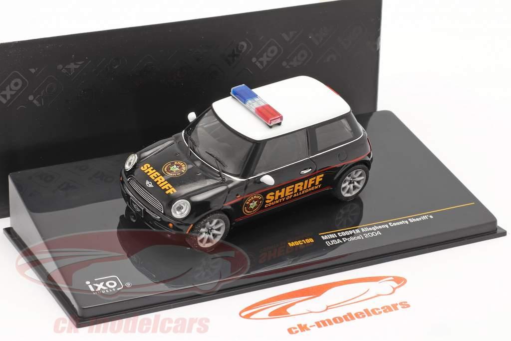 Mini Cooper Polizei USA Baujahr 2004 schwarz / weiß 1:43 Ixo