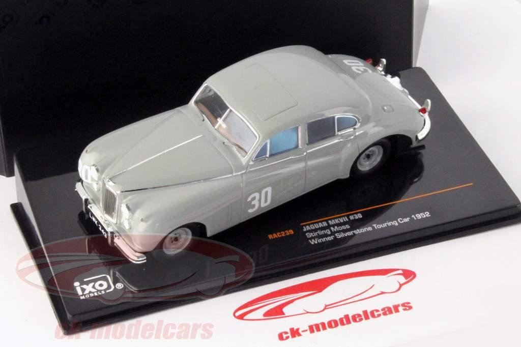 Stirling Moss Jaguar MKVII #30 vincitore Silverstone Touring Car 1952 1:43 Ixo / 2. scelta