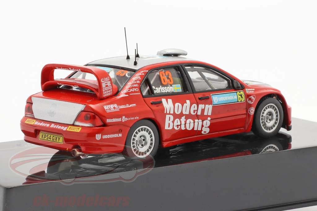 Mitsubishi Lancer WRC #63 se rallier Suède 2006 Carlsson, Holmstrand 1:43 Ixo