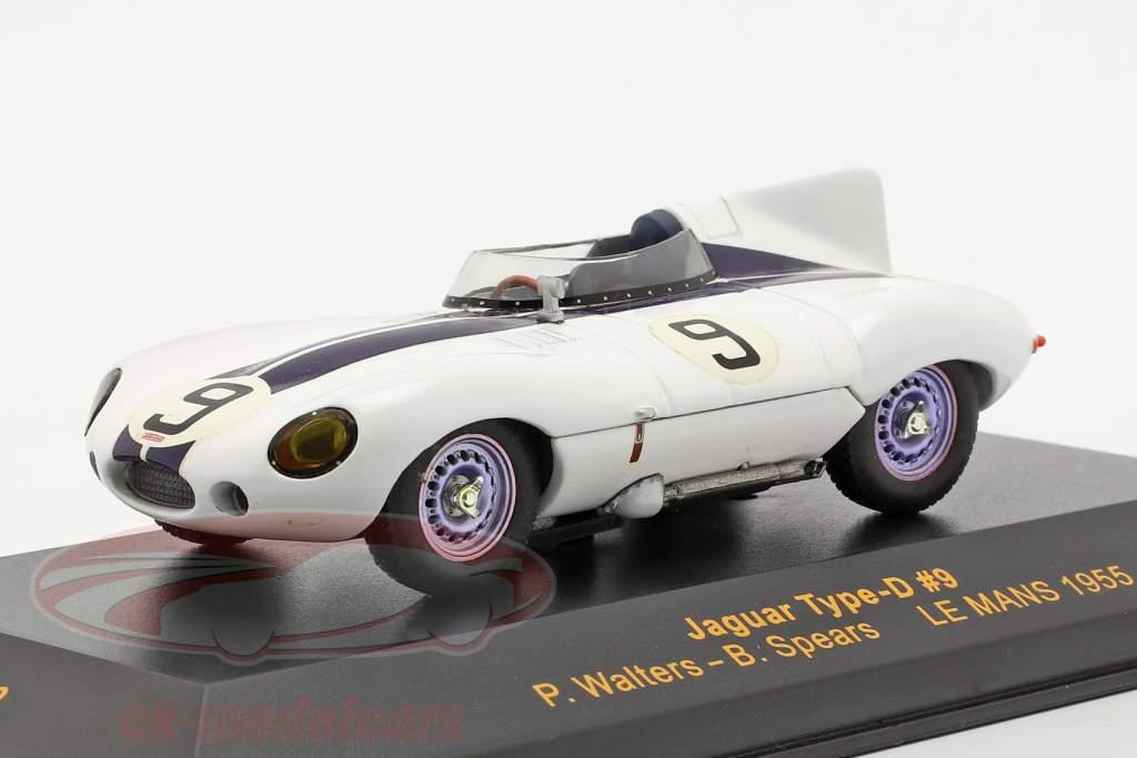 Jaguar Type-D #9 LeMans 1955 Walters, Spears 1:43 Ixo
