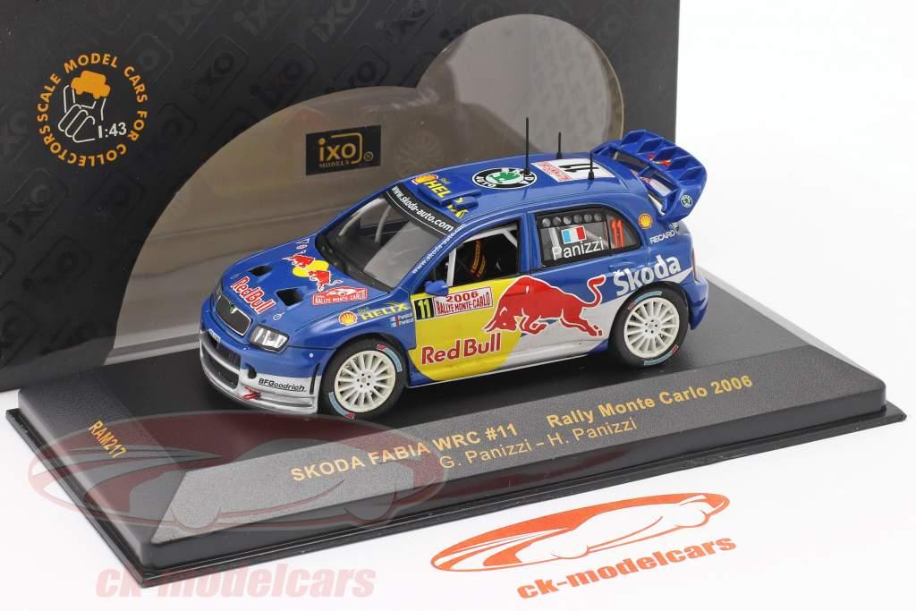 Skoda Fabia WRC #11 se rallier Monte Carlo 2006 Panizzi, Panizzi 1:43 Ixo