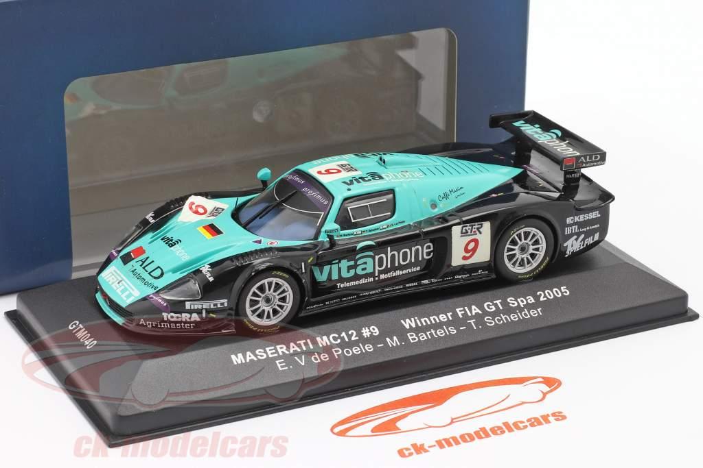 Maserati MC12 #9 ganador FIA GT Spa 2005 V de Poele, Bartels, Schneider 1:43 Ixo