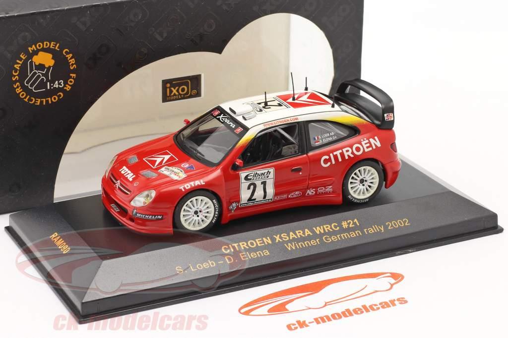 Citroen Xsara WRC #21 gagnant se rallier Allemagne 2002 Loeb, Elena 1:43 Ixo