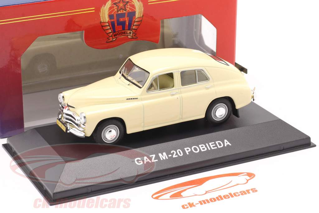 GAZ M20 Pobieda Baujahr 1950 beige 1:43 IST-Models