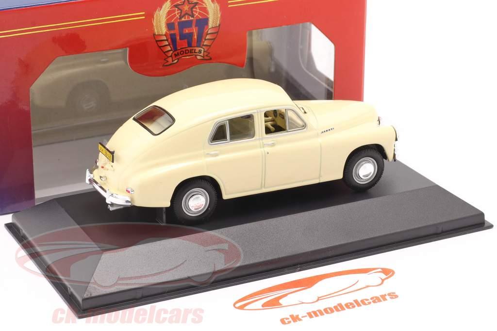 GAZ M20 Pobieda år 1950 beige 1:43 IST-Models
