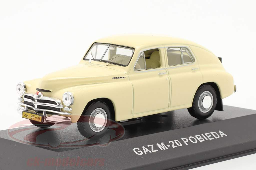 GAZ M20 Pobieda año 1950 beige 1:43 IST-Models