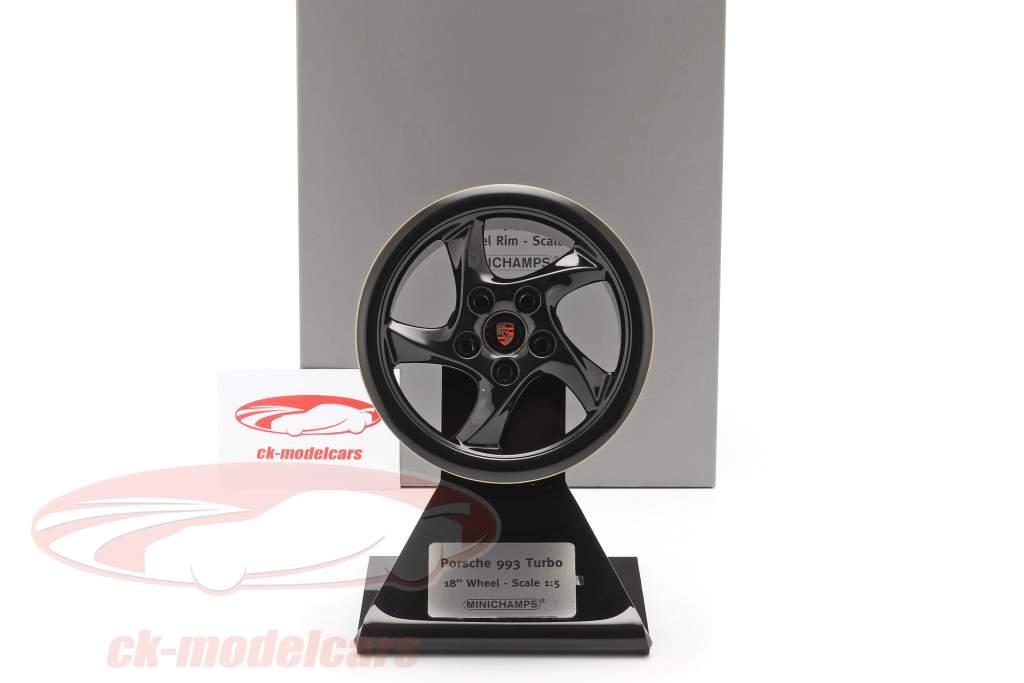 Porsche 911 (993) Turbo cerchio 18 inch Progetto oro 2019 1: 5 Minichamps