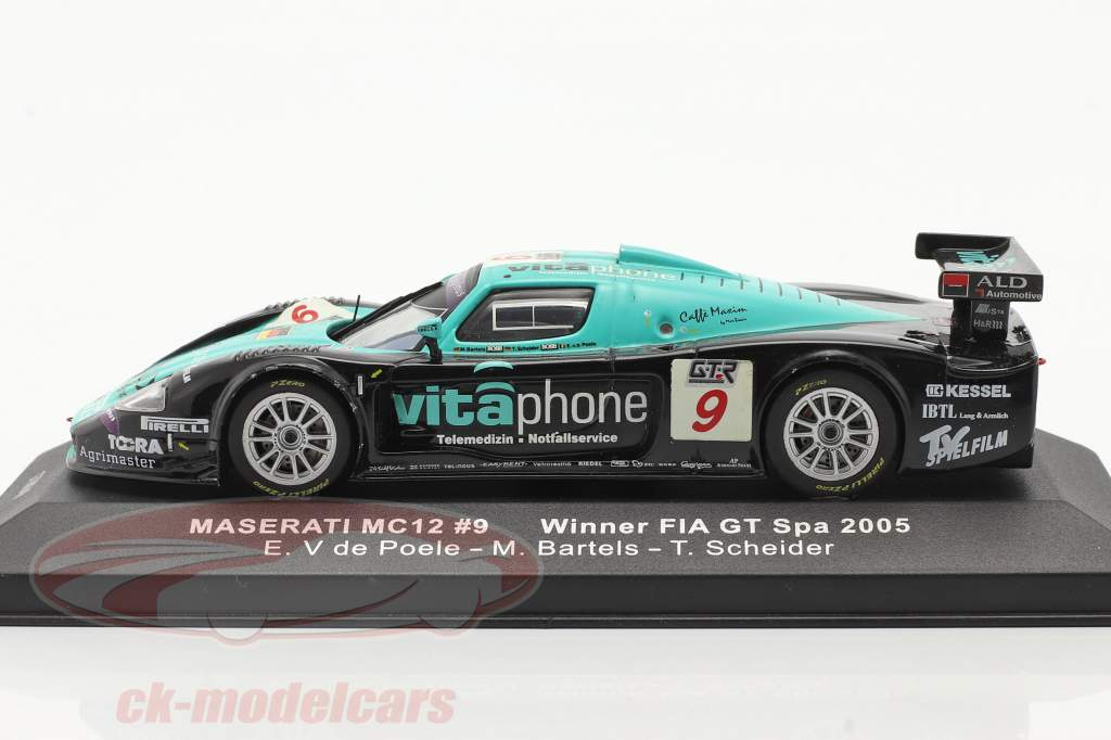 Maserati MC12 #9 Sieger FIA GT Spa 2005 V de Poele, Bartels, Schneider 1:43 Ixo