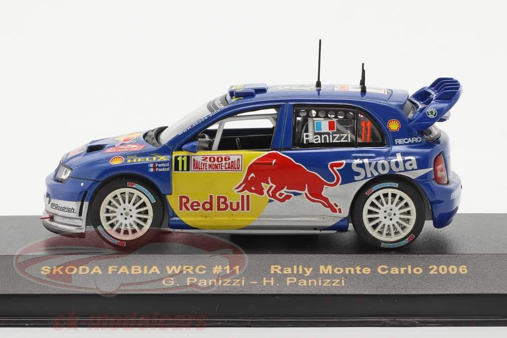 Skoda Fabia WRC #11 rally Monte Carlo 2006 Panizzi, Panizzi 1:43 Ixo