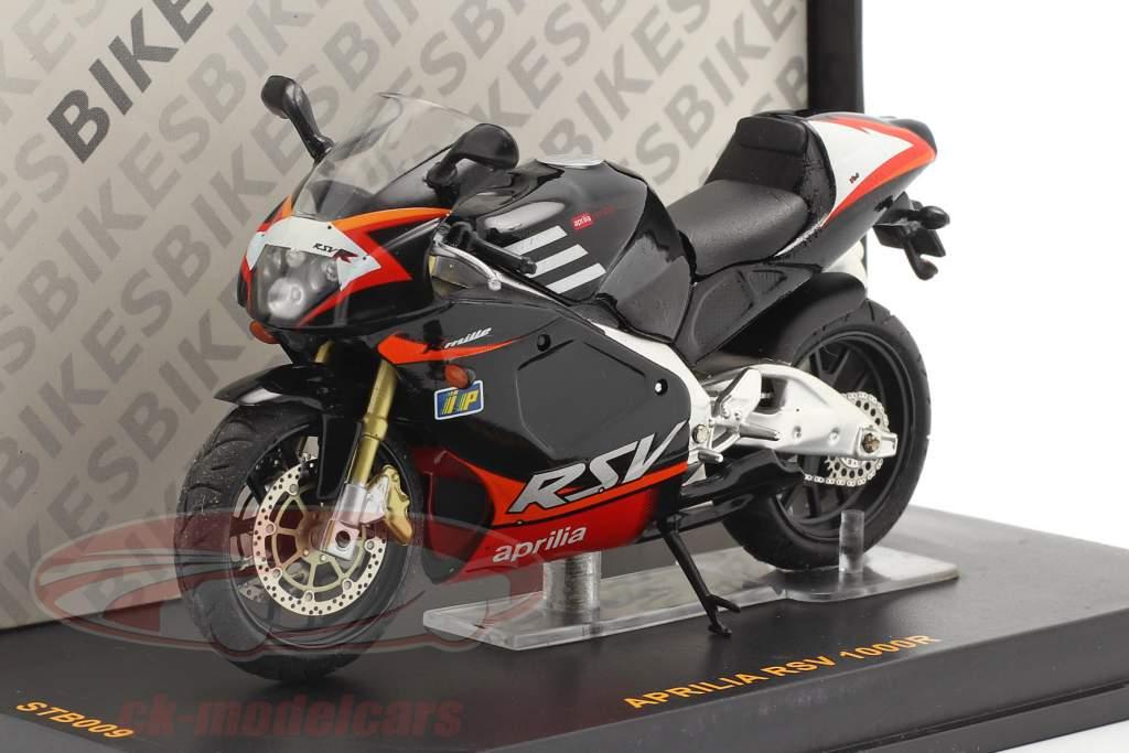 Aprilia RSV 1000R zwart / rood 1:24 Ixo