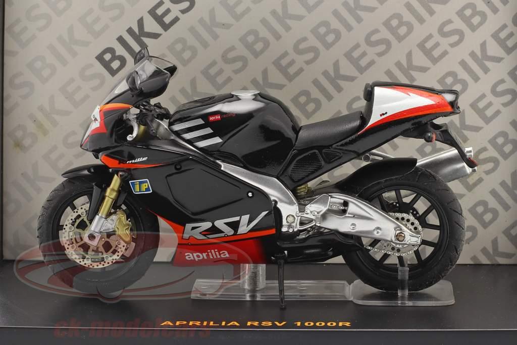 Aprilia RSV 1000R noir / rouge 1:24 Ixo