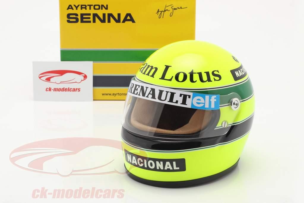 Ayrton Senna Lotus 97T #12 Formel 1 1985 Helm 1:2 MBA