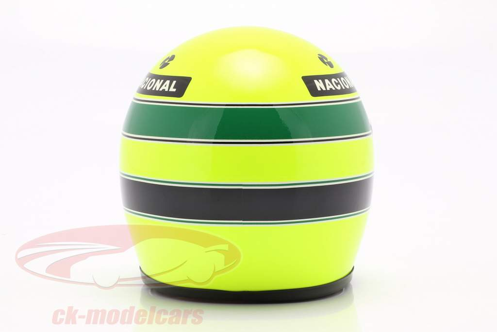 Ayrton Senna Lotus 97T #12 formule 1 1985 casque 1:2 MBA