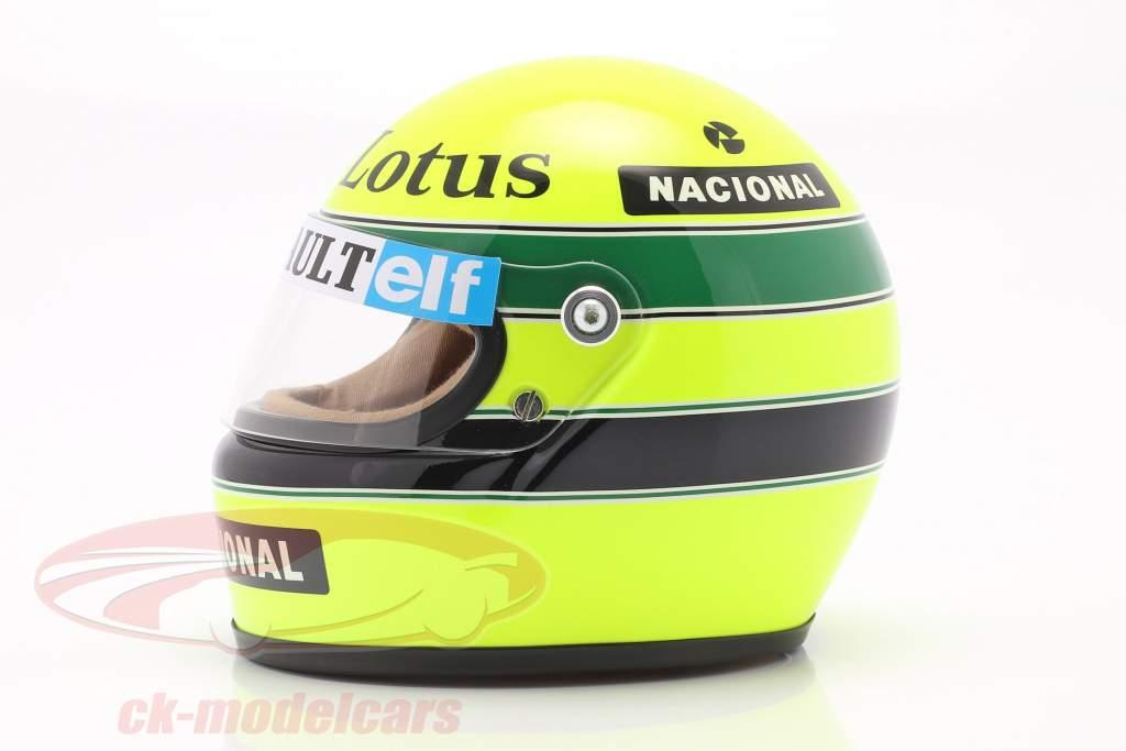 Ayrton Senna Lotus 97T #12 Fórmula 1 1985 capacete 1:2 MBA