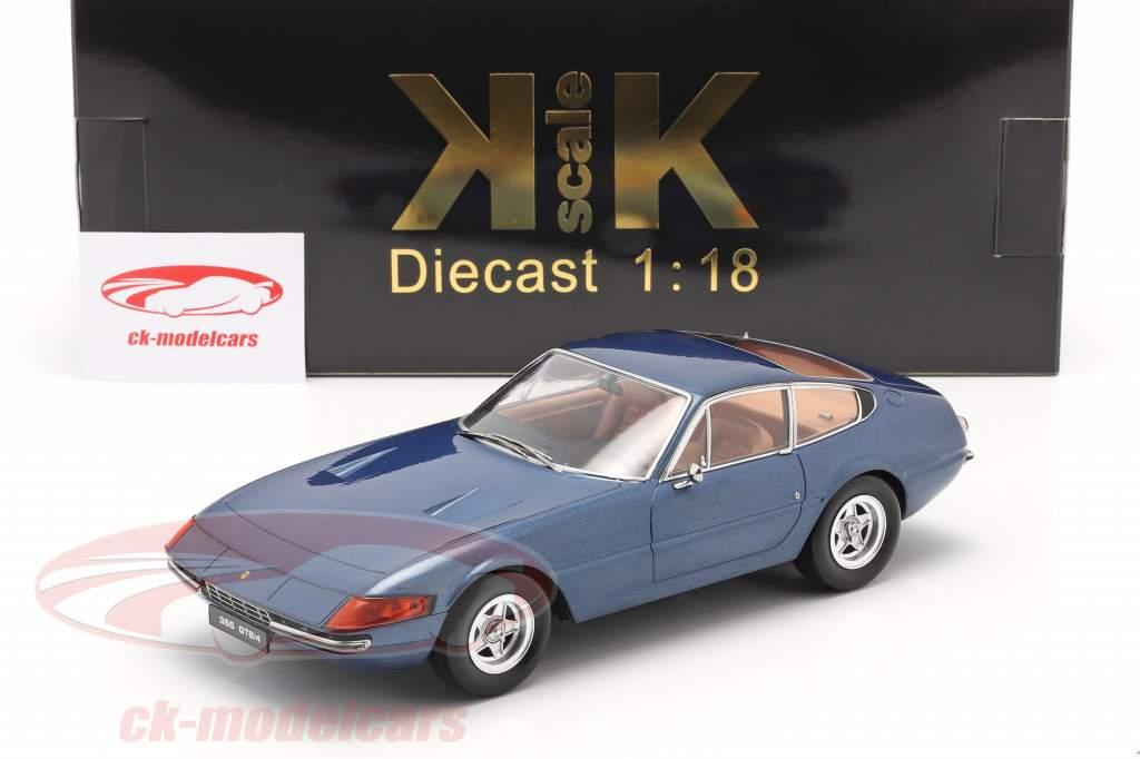 Ferrari 365 GTB/4 Daytona Coupe Serie 2 1971 blå metallisk 1:18 KK-Scale