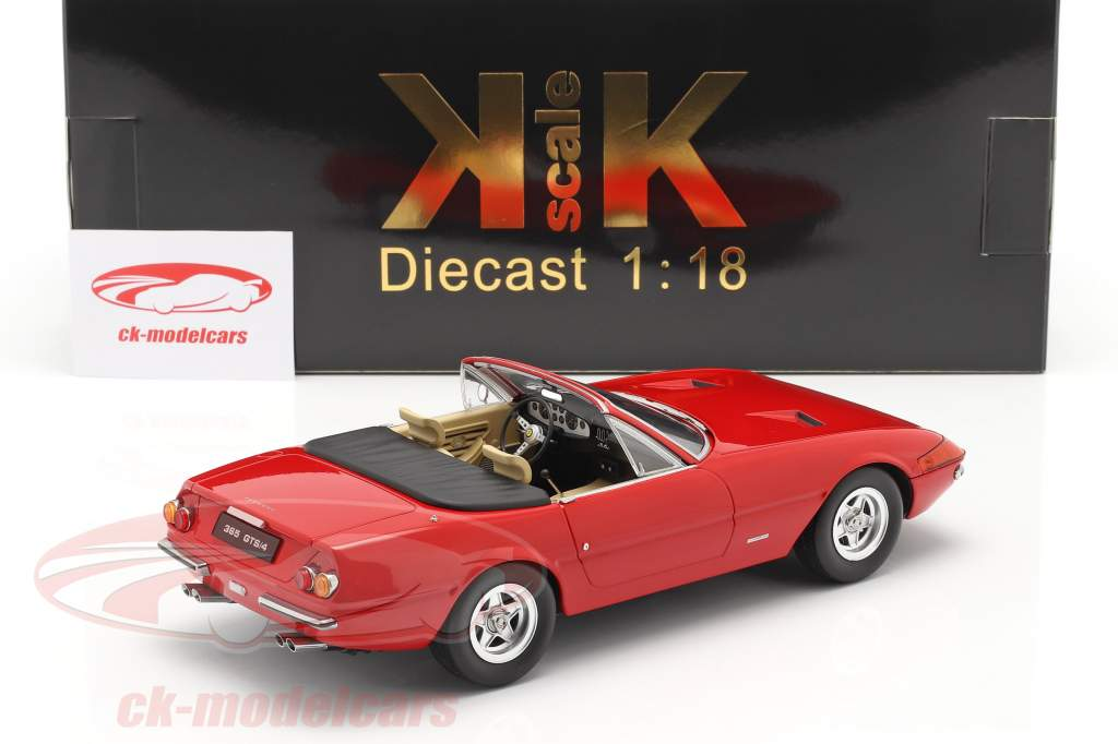 Ferrari 365 GTB/4 Daytona Convertible Series 2 1971 red 1:18 KK-Scale