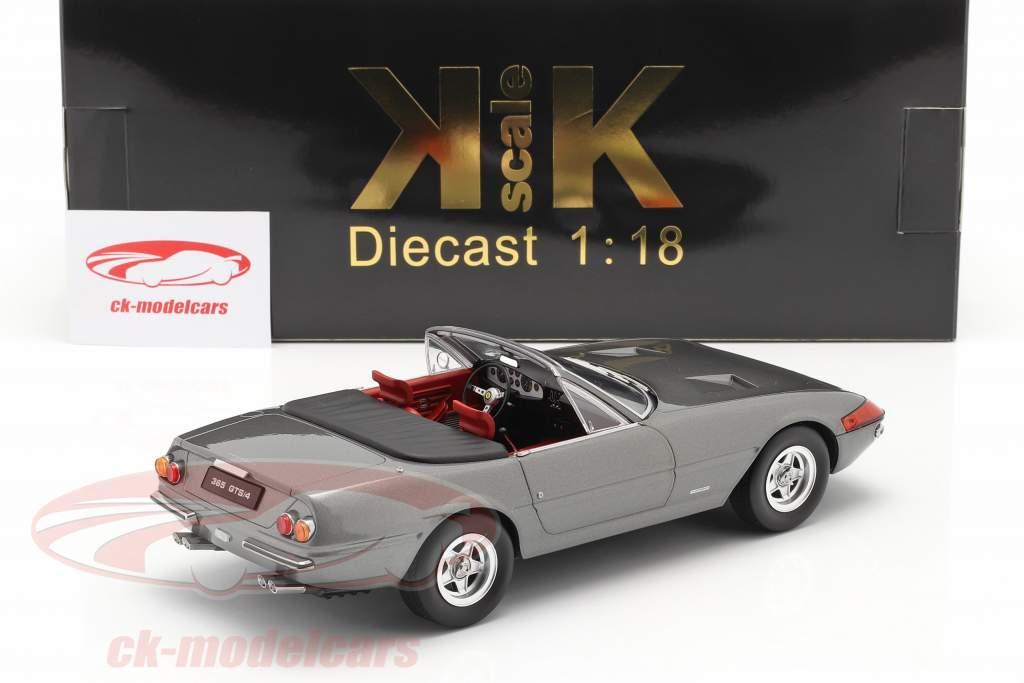 Ferrari 365 GTB/4 Daytona Conversível Series 2 1971 cinza metálico 1:18 KK-Scale