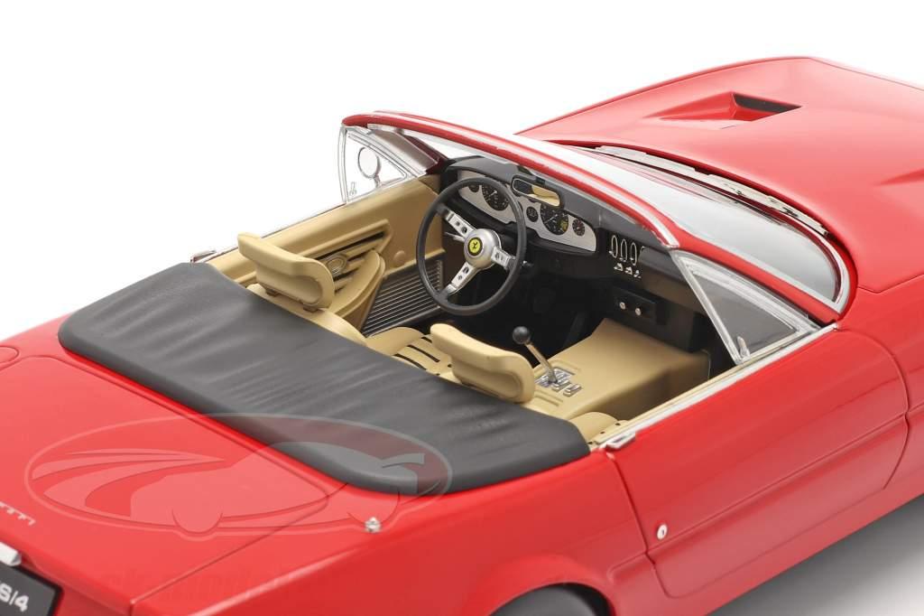 Ferrari 365 GTB/4 Daytona Cabriolet Serie 2 1971 rød 1:18 KK-Scale