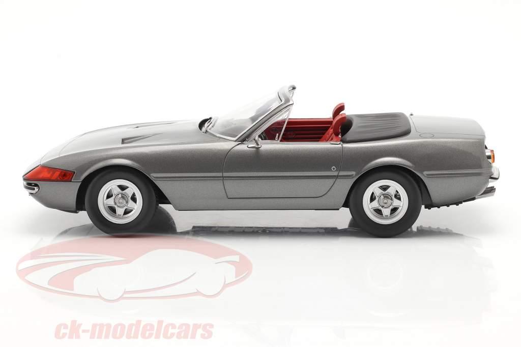 Ferrari 365 GTB/4 Daytona Convertibile Serie 2 1971 Grigio metallico 1:18 KK-Scale