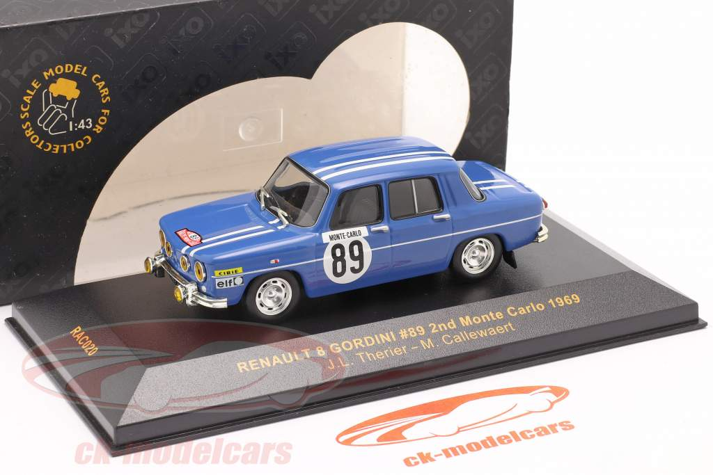 Renault 8 Gordini #89 Rallye Monte Carlo 1969 Therier, Callewaert 1:43 Ixo / 2. Wahl