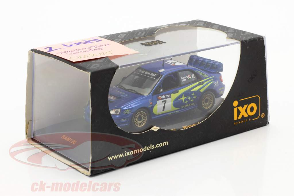 Subaru Impreza WRC #7 Sieger Australien Rallye 2003 Solberg, Mills 1:43 Ixo / 2. Wahl