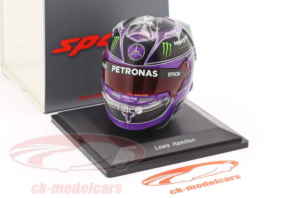 L. Hamilton #44 Mercedes-AMG Petronas Turks GP formule 1 Wereldkampioen 2020 helm 1:5 Spark