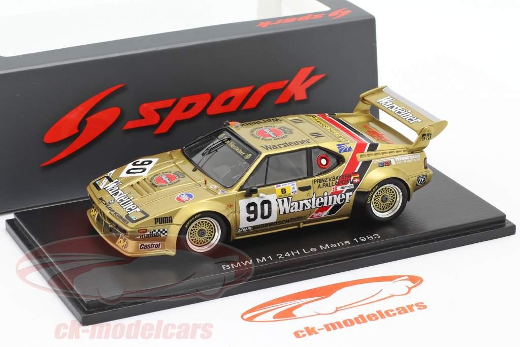 BMW M1 #90 24h LeMans 1983 Pallavicini, Winther, von Bayern 1:43 Spark