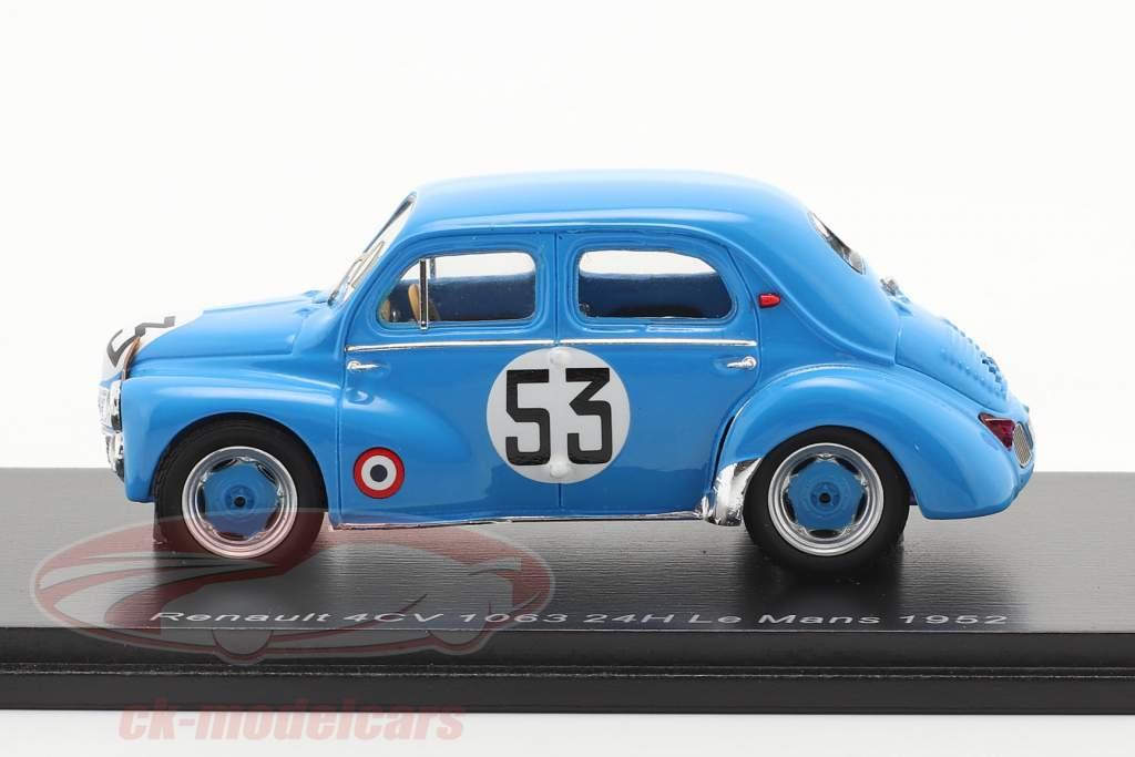 Renault 4CV 1063 #53 24h LeMans 1952 Lesur, Briat 1:43 Spark