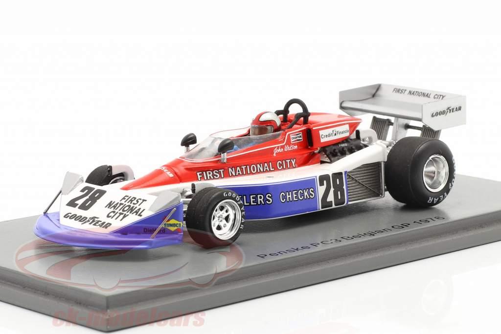 John Watson Penske PC3 #28 7. Belgisk GP formel 1 1976 1:43 Spark