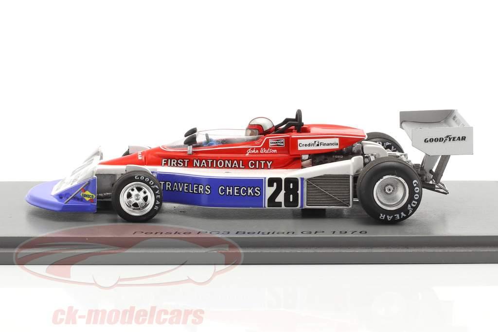 John Watson Penske PC3 #28 7e Belgisch GP formule 1 1976 1:43 Spark