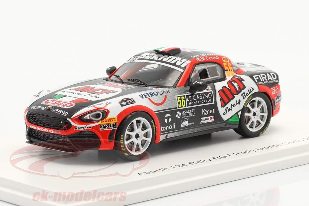 Abarth 124 Rally RGT #56 Rallye Monte Carlo 2020 Brazzoli, Fenoli 1:43 Spark