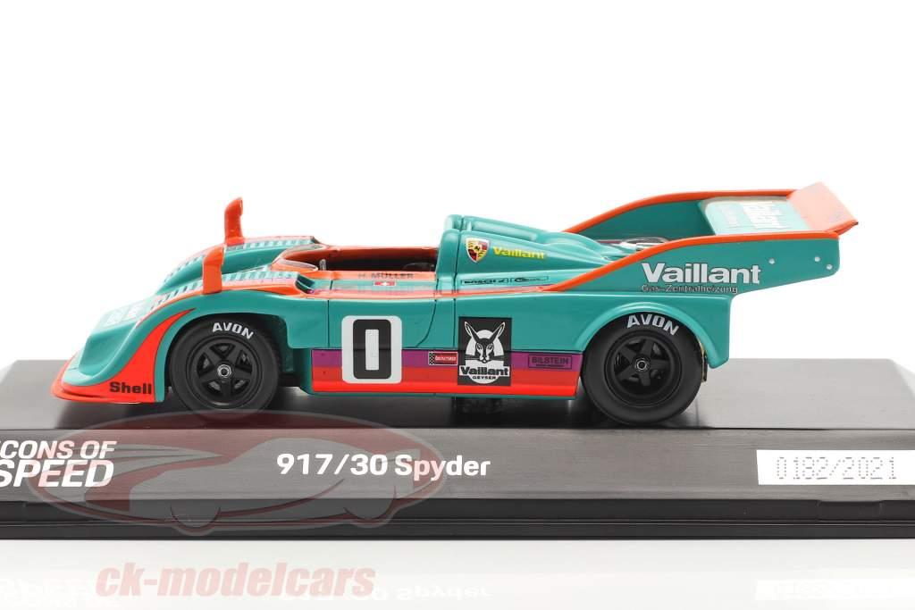 Porsche 917/30 Spyder #0 vinder Interserie 1975 H. Müller 1:43 Spark