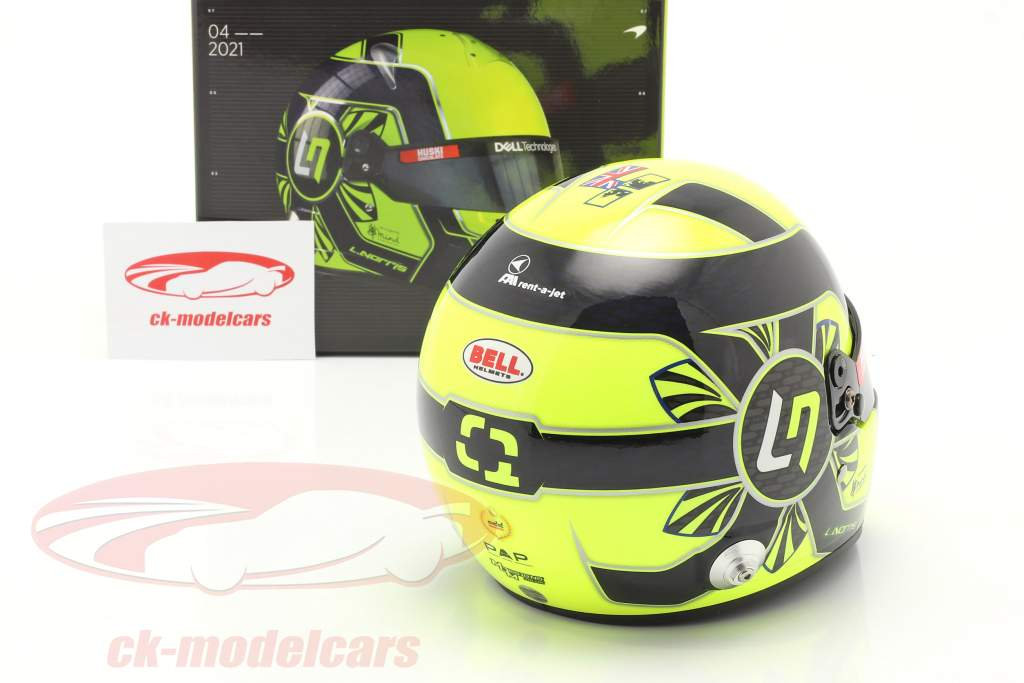 Lando Norris #4 McLaren F1 Team Formel 1 2021 Helm 1:2 Bell