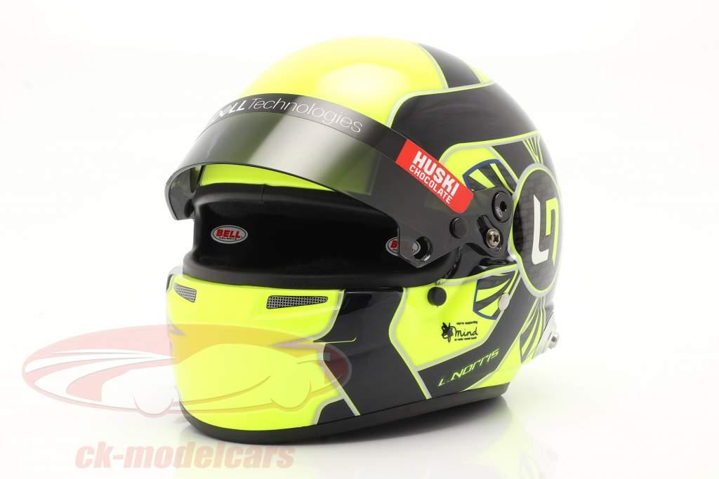 Lando Norris #4 McLaren F1 Team formula 1 2021 casco 1:2 Bell