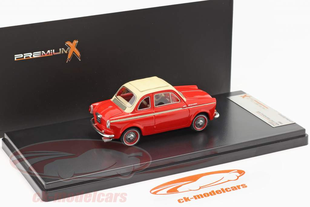 NSU-Fiat Weinsberg 500 jaar 1960 rood 1:43 Premium X / 2e keuze
